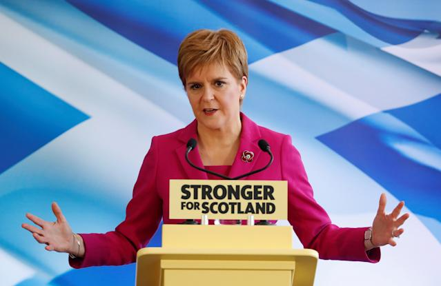 The SNP has complained that Nicola Sturgeon has not been included in the Sky News debate on November 28 (Picture: Reuters)