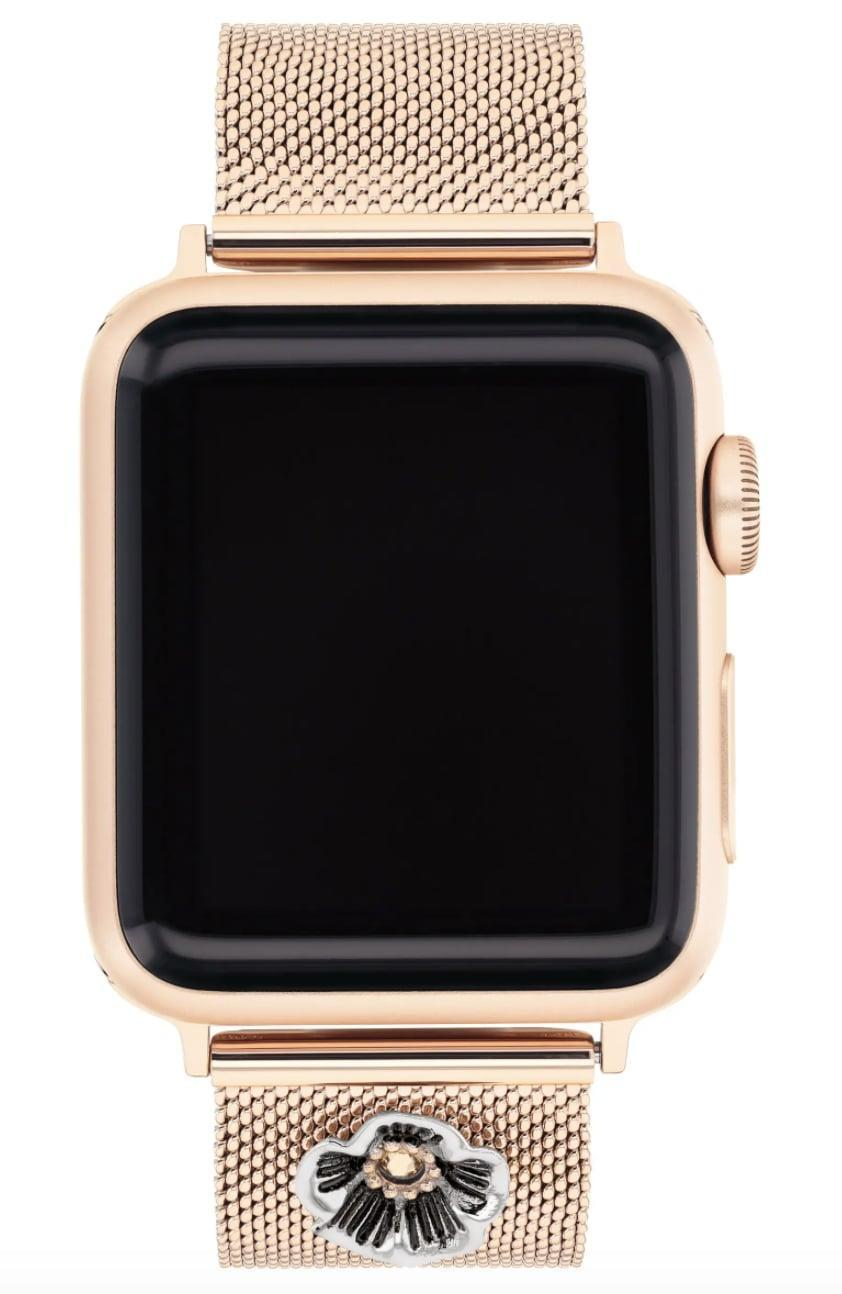 <p>If they have an Apple Watch and are always mixing up its look, then we know exactly what they need. We have a feeling they would love this stylish <span>Coach Flower Mesh Apple Watch Strap</span> ($125).</p>