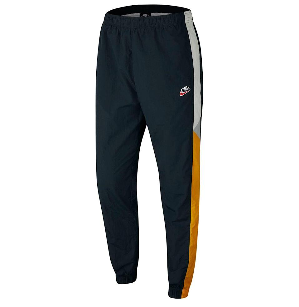 """<p><strong>NIKE</strong></p><p>nordstrom.com</p><p><strong>$80.00</strong></p><p><a href=""""https://go.redirectingat.com?id=74968X1596630&url=https%3A%2F%2Fshop.nordstrom.com%2Fs%2Fnike-heritage-jogger-pants%2F5369166&sref=https%3A%2F%2Fwww.esquire.com%2Flifestyle%2Fg19621074%2Fcool-fathers-day-gifts-ideas%2F"""" rel=""""nofollow noopener"""" target=""""_blank"""" data-ylk=""""slk:Shop Now"""" class=""""link rapid-noclick-resp"""">Shop Now</a></p>Color-blocked stripes pattern lightweight joggers with a relaxed fit and an adjustable drawstring at the waist."""