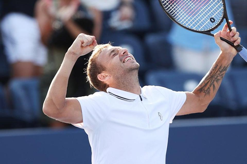 Dan Evans will face Daniil Medvedev in the fourth round at the US Open  (Getty Images)