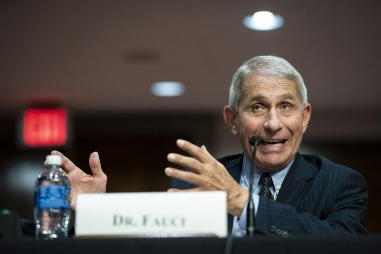 Anthony Fauci, director of the National Institute of Allergy and Infectious Diseases, warned a congressional panel that US coronavirus cases could hit 100,000 a day if measures are not taken (AFP Photo/POOL)
