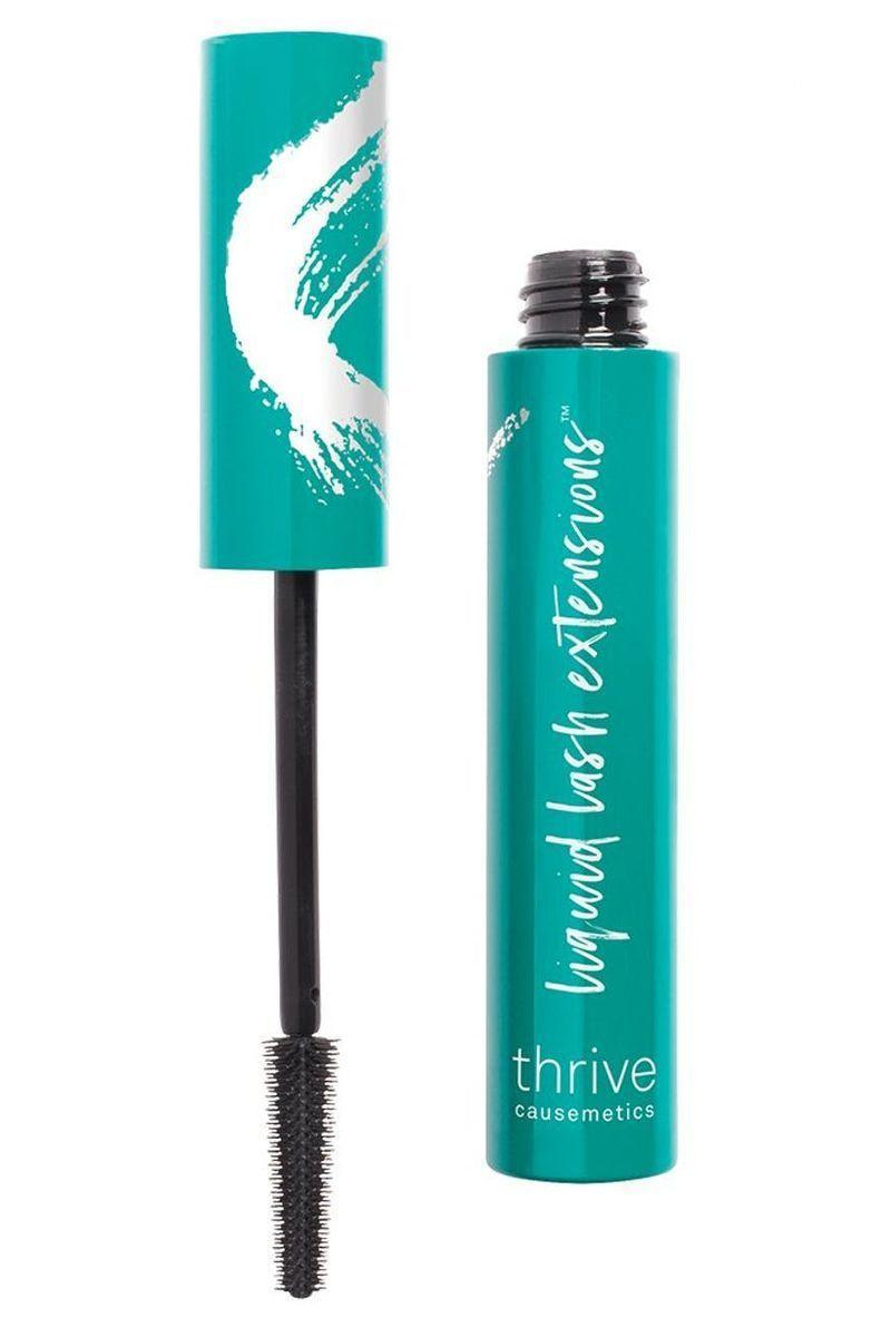 """<p><strong>Thrive Cosmetics</strong></p><p>thrivecausemetics.com</p><p><strong>$24.00</strong></p><p><a href=""""https://thrivecausemetics.com/products/liquid-lash-extensions-mascara?gclid=Cj0KCQiA3Y-ABhCnARIsAKYDH7v8DrRLhoJ8XqGtfQO8zFGkDdSinuIr4uVS_DNMJRXxERKIu-OoIC0aAgbjEALw_wcB"""" rel=""""nofollow noopener"""" target=""""_blank"""" data-ylk=""""slk:SHOP IT"""" class=""""link rapid-noclick-resp"""">SHOP IT</a></p><p>If the tips of your lashes leave unbecoming smears on your top and bottom lids, try a tubing mascara. The polymers in this formula form around each lash to create an extended, faux-falsies effect that will stay smudge-free all day. </p>"""