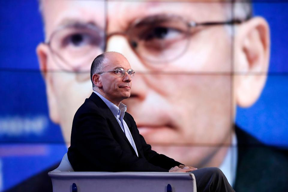 Italian politician Enrico Letta guest on the TV show Porta a Porta. Rome (Italy), March 20, 2017 (Photo by Massimo Di Vita/Archivio Massimo Di Vita/Mondadori Portfolio via Getty Images) (Photo: Mondadori Portfolio via Getty Images)