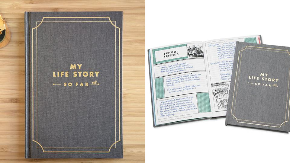 Best gifts for grandpa: My Life Story So Far journal