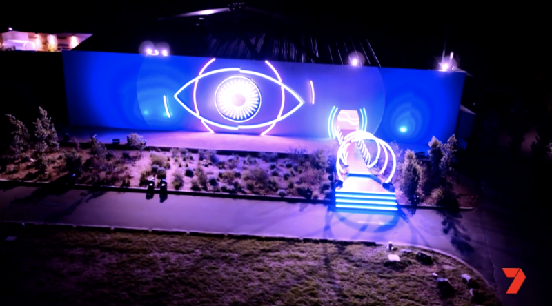 External shot of the new Big Brother house that was custom-built in a warehouse in Sydney's Manly.
