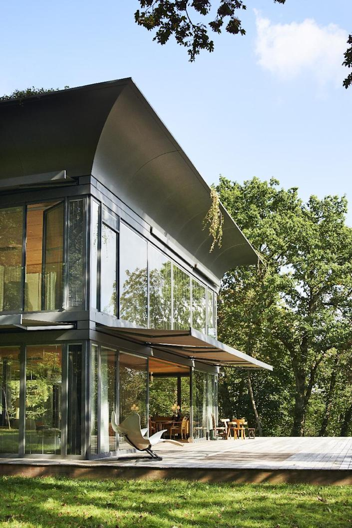 Designed with Slovenian construction company Riko, the houses will produce less energy than they consume thanks to a combination of solar, thermal, solar photovoltaic and wind turbines on the roof.