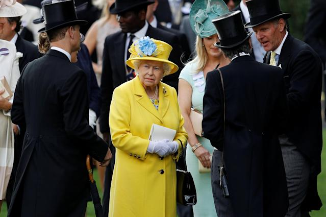 Horse Racing - Royal Ascot - Ascot Racecourse, Ascot, Britain - June 19, 2018 Britain's Queen Elizabeth during Royal Ascot REUTERS/Peter Nicholls