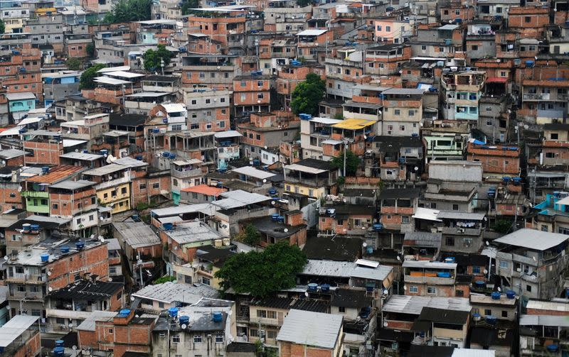 A general view shows the Alemao slums complex during the coronavirus disease (COVID-19) outbreak in Rio de Janeiro