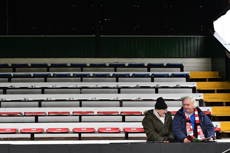 The National League will begin this weekend without fans in attendance (AFP via Getty)