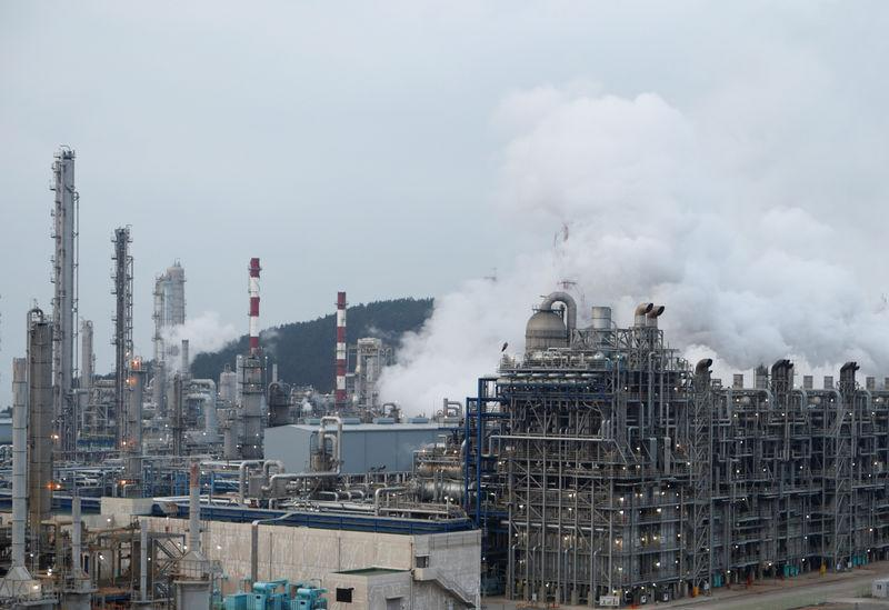 FILE PHOTO: A petrochemical plant is seen in Seosan, South Korea