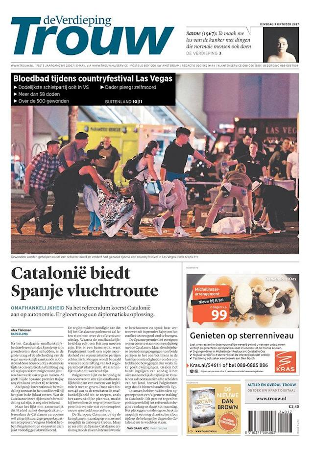 "<p>""Trouw,"" published in Amsterdam, Netherlands. (newseum.org) </p>"