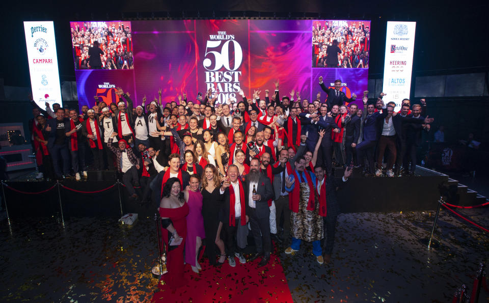 The World's 50 Best Bars 2018, held at Camden Roundhouse, London, on Wednesday 3rd October 2018. (PHOTO: imagecomms)