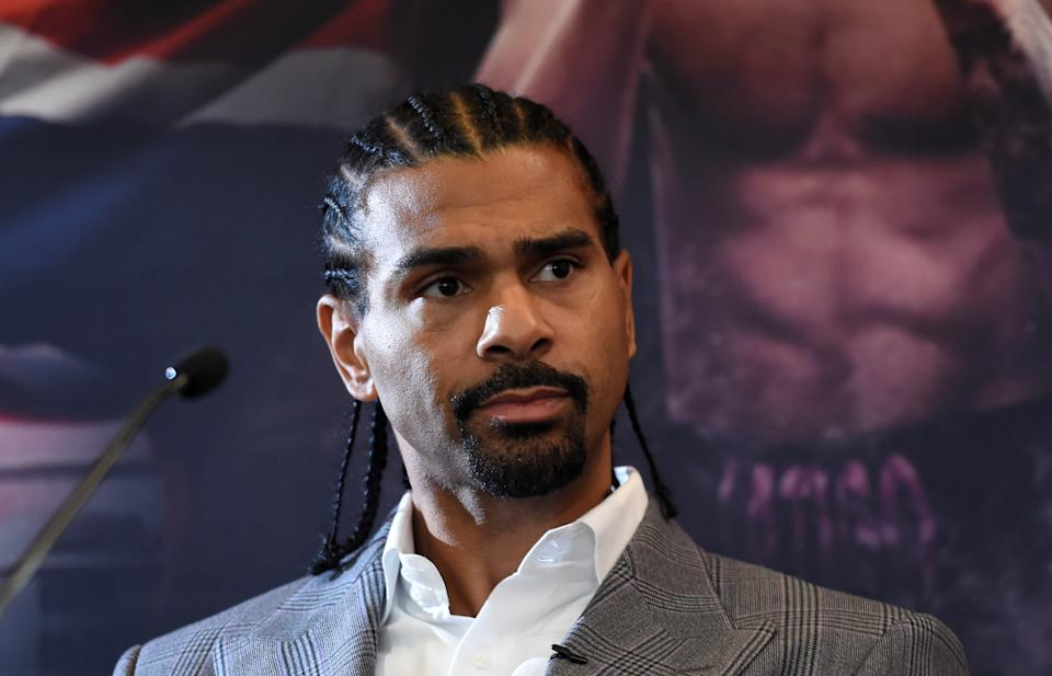 Boxing - Dillian Whyte & Dereck Chisora Press Conference - Canary Riverside Plaza Hotel, London, Britain - December 20, 2018   Promoter David Haye during the press conference   Action Images via Reuters/Adam Holt