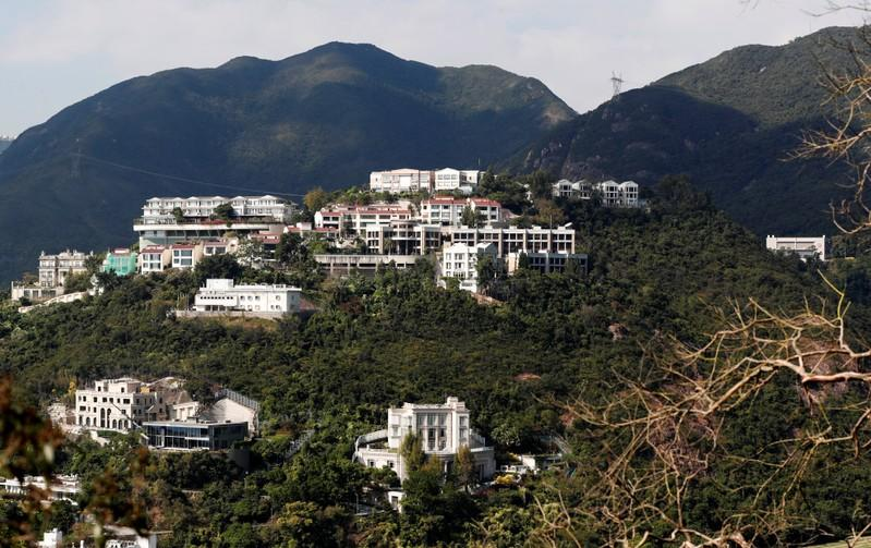 Hong Kong tycoon Li Ka-shing's house is pictured from a hill in Hong Kong