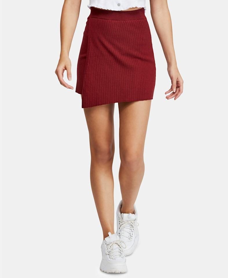 """<p>Style this <a href=""""https://www.popsugar.com/buy?url=https%3A%2F%2Fwww.macys.com%2Fshop%2Fproduct%2Ffree-people-mod-wrap-skirt%3FID%3D8925011%26CategoryID%3D188851%23fn%3DPRICE%253D0.0%257C49.99%2526sp%253D8%2526spc%253D19172%2526ruleId%253D105%257CBOOST%2520ATTRIBUTE%257CBOOST%2520SAVED%2520SET%2526searchPass%253DmatchNone%2526slotId%253D17&p_name=Free%20People%20Mod%20Wrap%20Skirt&retailer=macys.com&price=40&evar1=fab%3Aus&evar9=46642602&evar98=https%3A%2F%2Fwww.popsugar.com%2Fphoto-gallery%2F46642602%2Fimage%2F46644295%2FFree-People-Mod-Wrap-Skirt&list1=shopping%2Cfall%20fashion%2Cmacys%2C50%20under%20%2450%2Caffordable%20shopping&prop13=api&pdata=1"""" rel=""""nofollow"""" data-shoppable-link=""""1"""" target=""""_blank"""" class=""""ga-track"""" data-ga-category=""""Related"""" data-ga-label=""""https://www.macys.com/shop/product/free-people-mod-wrap-skirt?ID=8925011&amp;CategoryID=188851#fn=PRICE%3D0.0