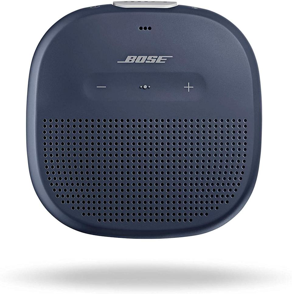"""<h3><h2>Bose SoundLink Micro Waterproof Bluetooth Speaker</h2></h3><br><strong>Under $100</strong><br>He might still be struggling to adapt to newfangled technology, but when you show him how portable this tiny, top-rated speaker is, he may finally take a stab at understanding Bluetooth.<br><br><em>Shop Bose on <strong><a href=""""https://amzn.to/2TaFQIL"""" rel=""""nofollow noopener"""" target=""""_blank"""" data-ylk=""""slk:Amazon"""" class=""""link rapid-noclick-resp"""">Amazon</a></strong></em><br><br><strong>Bose</strong> SoundLink Micro Waterproof Bluetooth Speaker, $, available at <a href=""""https://amzn.to/2S8UIHP"""" rel=""""nofollow noopener"""" target=""""_blank"""" data-ylk=""""slk:Amazon"""" class=""""link rapid-noclick-resp"""">Amazon</a>"""