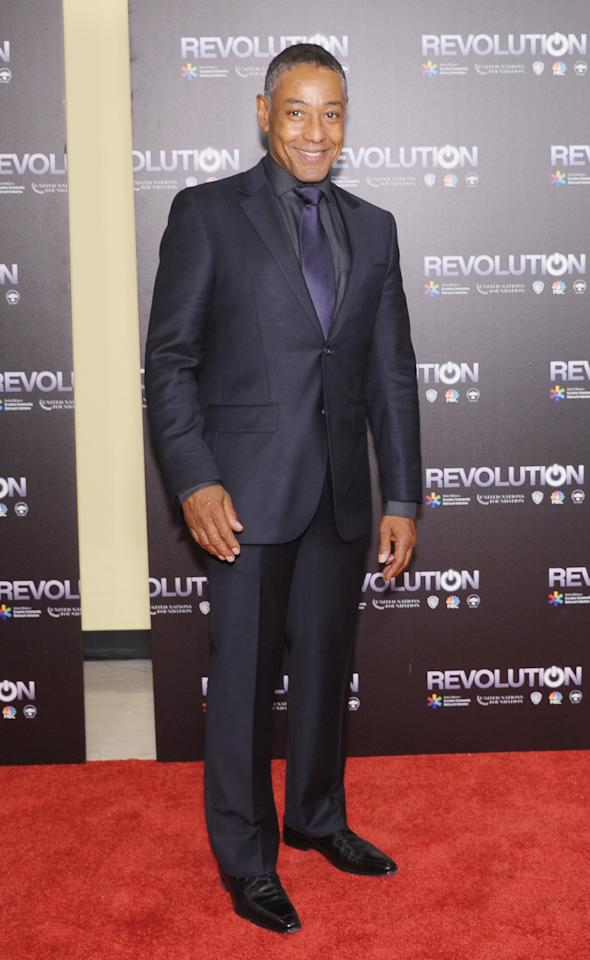 """NEW YORK, NY - SEPTEMBER 17: Actor Giancarlo Esposito attends the """"Revolution: The Power of Entertainment"""" season two premiere at United Nations Headquarters on September 17, 2013 in New York City. (Photo by Michael Loccisano/Getty Images)"""
