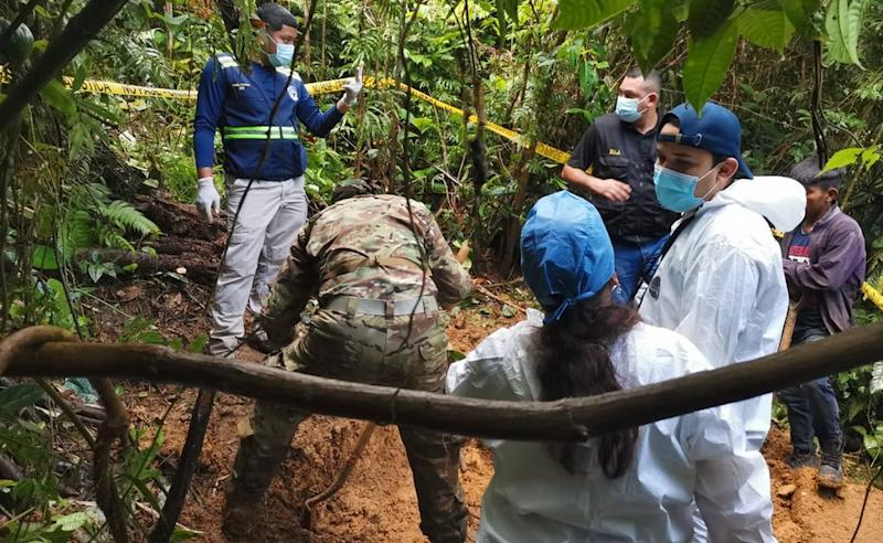 Suspected mass grave is excavated in Panama