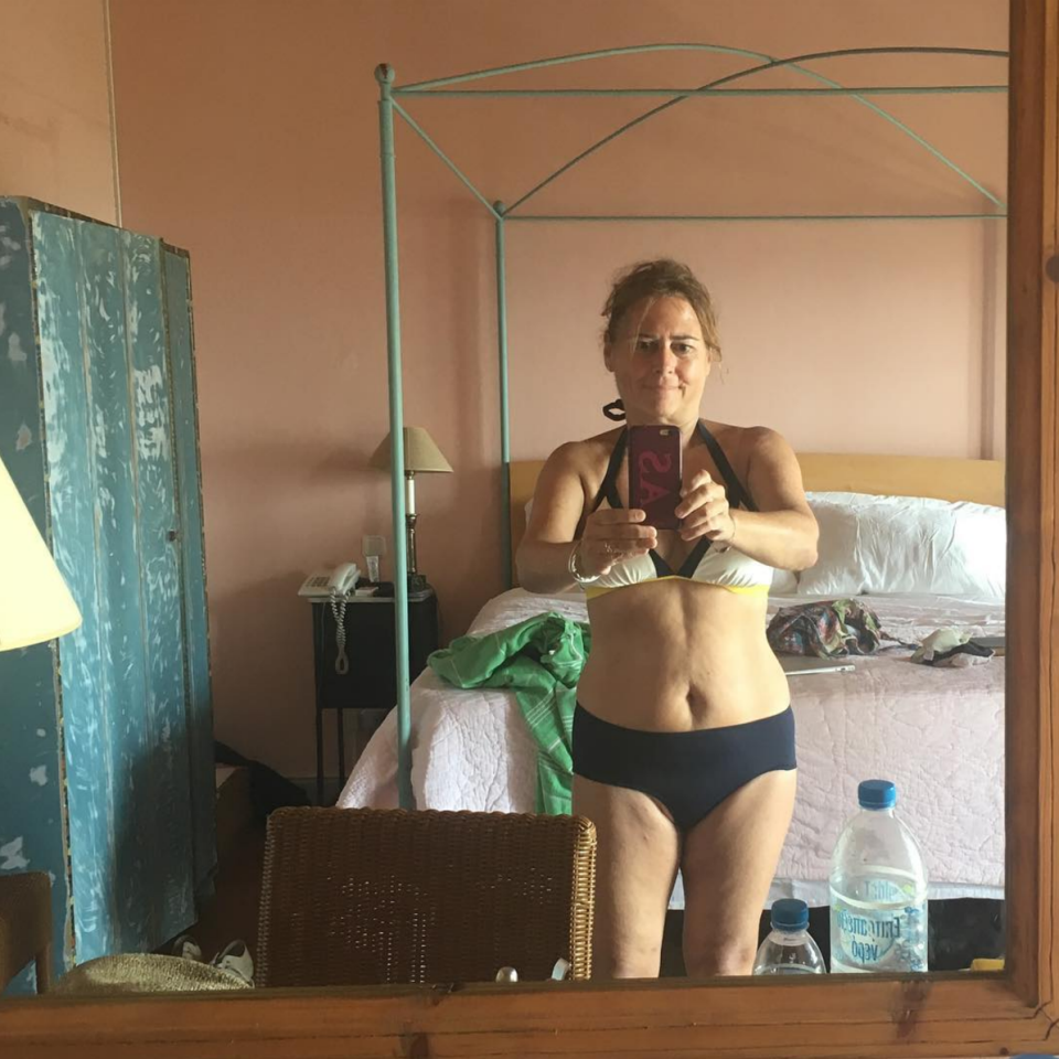 <p>Former British Vogue editor, 59-year-old Alexandra Shulman recently showed off a bikini selfie whilst on holiday in Greece and she's owning it. <em>[Photo: Alexandra Shulman/ Instagram]</em> </p>