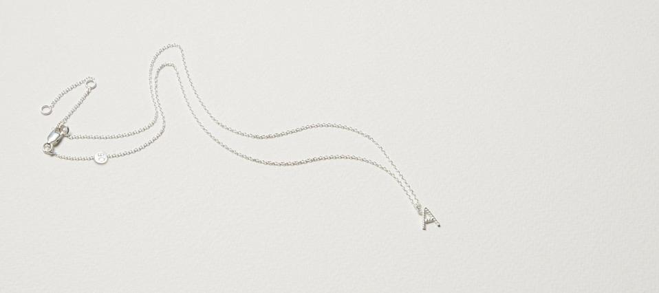 """<br><br><strong>Oliver Bonas</strong> Alphabet Twisted Initial Silver Pendant Necklace, $, available at <a href=""""https://www.oliverbonas.com/jewellery/alphabet-twisted-initial-gold-plated-pendant-necklace-314531#selection.color=Silver&selection.letter=A"""" rel=""""nofollow noopener"""" target=""""_blank"""" data-ylk=""""slk:Oliver Bonas"""" class=""""link rapid-noclick-resp"""">Oliver Bonas</a>"""