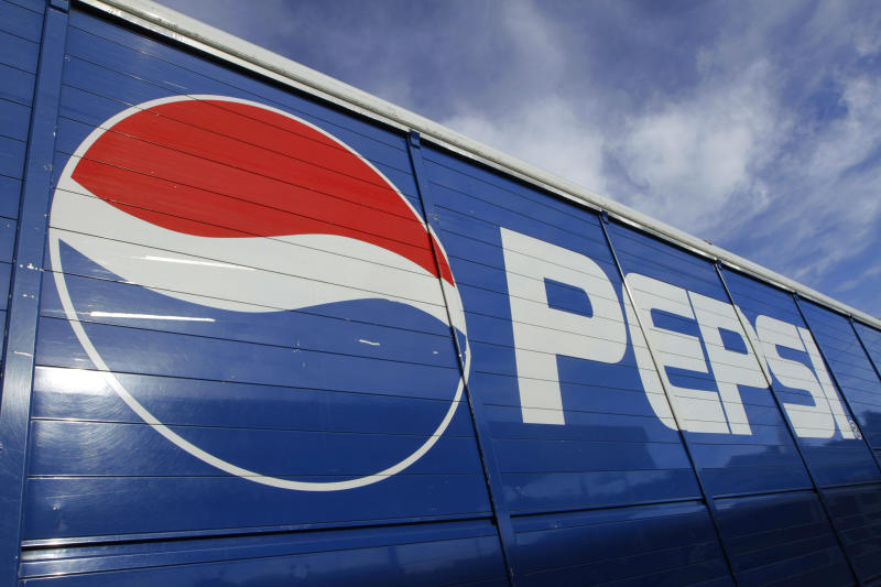 The Pepsi logo is seen on a delivery truck Wednesday, May 30, 2012 in Springfield, Ill. (AP Photo/Seth Perlman)