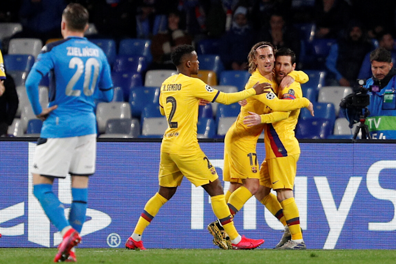 Champions League: Griezmann Scores to Help FC Barcelona to Draw With Napoli in Last 16 1st Leg