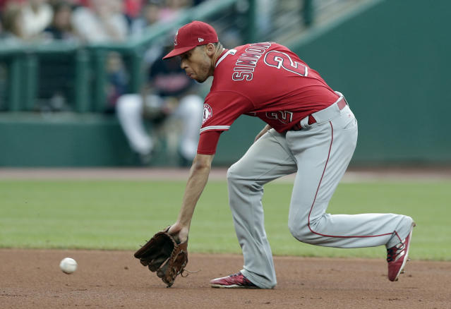 Andrelton Simmons has always been a great defender, but he started hitting in 2017. (AP Photo/Tony Dejak)