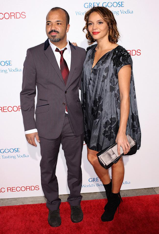 """<a href=""""http://movies.yahoo.com/movie/contributor/1800020494"""">Jeffrey Wright</a> and wife at the Los Angeles premiere of <a href=""""http://movies.yahoo.com/movie/1810003875/info"""">Cadillac Records</a> - 11/24/2008"""
