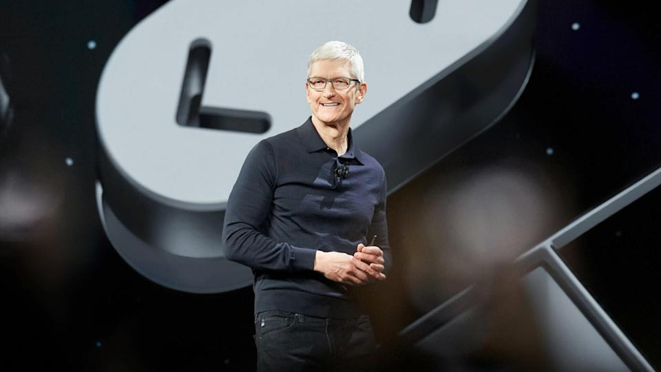 Marcio Jose Sanchez/AP/REX/ShutterstockApple CEO Tim Cook speaks during an announcement of new products at the Apple Worldwide Developers Conference, in San Jose, CalifApple Showcase, San Jose, USA - 04 Jun 2018.