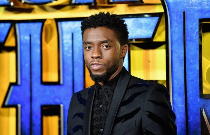 Chadwick on the red carpet for Marvel