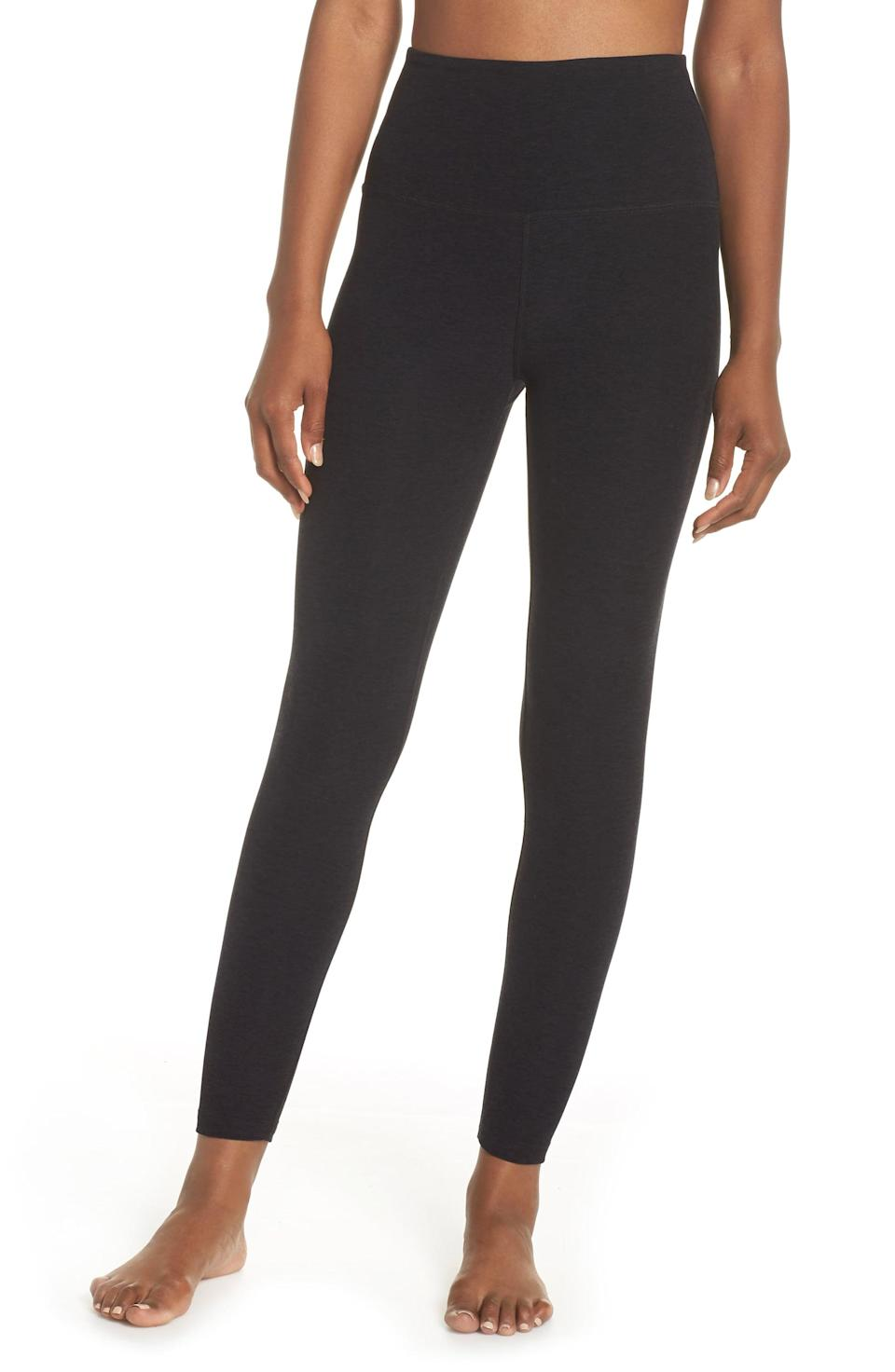 <p>These <span>Beyond Yoga Midi High-Waisted Leggings</span> ($97) are so soft and bum-sculpting, you'll wonder how you ever lived without them.</p>
