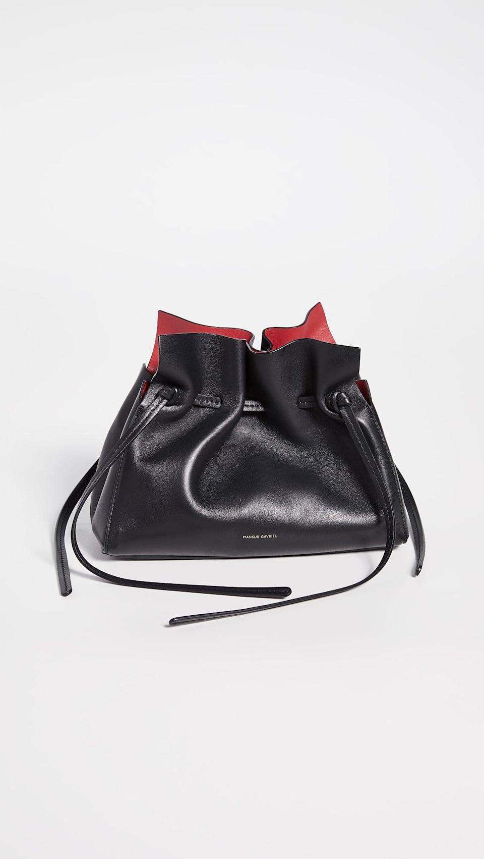 <p>This <span>Mansur Gavriel Mini Protea Bag</span> ($495) is so on-trend this year.</p>