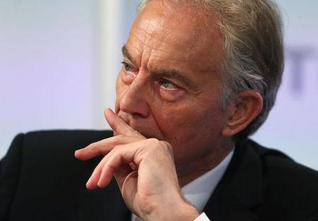 Britain's former Prime Minister Tony Blair attends an event at Thomson Reuters in London