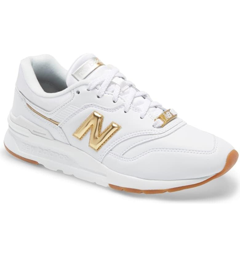 "<p>These <a href=""https://www.popsugar.com/buy/New-Balance-997H-Sneakers-549361?p_name=New%20Balance%20997H%20Sneakers&retailer=shop.nordstrom.com&pid=549361&price=90&evar1=fab%3Aus&evar9=47219648&evar98=https%3A%2F%2Fwww.popsugar.com%2Ffashion%2Fphoto-gallery%2F47219648%2Fimage%2F47221043%2FNew-Balance-997H-Sneakers&list1=shopping%2Cnordstrom%2Cshoes%2Csneakers&prop13=api&pdata=1"" rel=""nofollow"" data-shoppable-link=""1"" target=""_blank"" class=""ga-track"" data-ga-category=""Related"" data-ga-label=""https://shop.nordstrom.com/s/new-balance-997h-sneaker-women/5067616/full?origin=category-personalizedsort&amp;breadcrumb=Home%2FWomen%2FShoes%2FSneakers%20%26%20Athletic&amp;color=grey"" data-ga-action=""In-Line Links"">New Balance 997H Sneakers</a> ($90) come in many colors, but we especially love the gold accents.</p>"