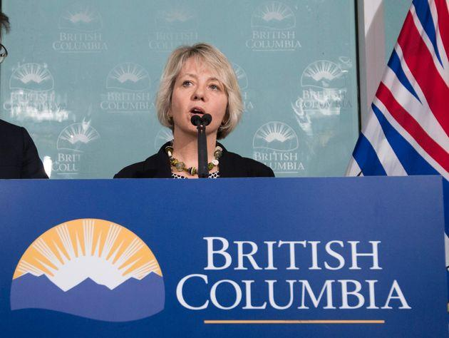Dr. Bonnie Henry, Provincial Health Officer of British Columbia, during a news conference regarding the coronavirus in Vancouver, B.C., on 31 January 2020.