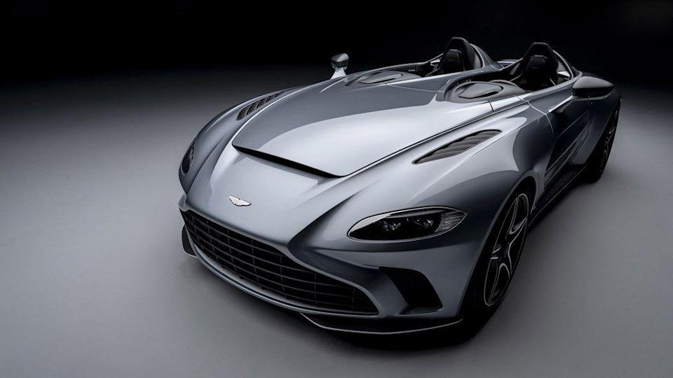 "<p>If you expect to at least get a roof and a windscreen for £765,000, don't put your name down for Aston's ultra-extreme V12 Speedster, which takes its inspiration from Aston's stripped back Fifties racers. This one's in carbon fibre, of course. </p><p>Not only is this two-seater exposed to the elements, it has no screen either, intending to restore the connection between road and driver. And given the car's likely performance, concentrating on the road will be mandatory. A 5.2-litre twin turbo V12 will produce 690hp, achieving 0-62mph in just 3.5 seconds and a top speed of 186mph. Only 88 people will get to own one. Surely <a href=""https://www.esquire.com/uk/culture/film/a27716974/the-batman-movie-news-cast-rumors-trailer-release-date/"" rel=""nofollow noopener"" target=""_blank"" data-ylk=""slk:Bruce Wayne"" class=""link rapid-noclick-resp"">Bruce Wayne</a> will be one of them.</p>"
