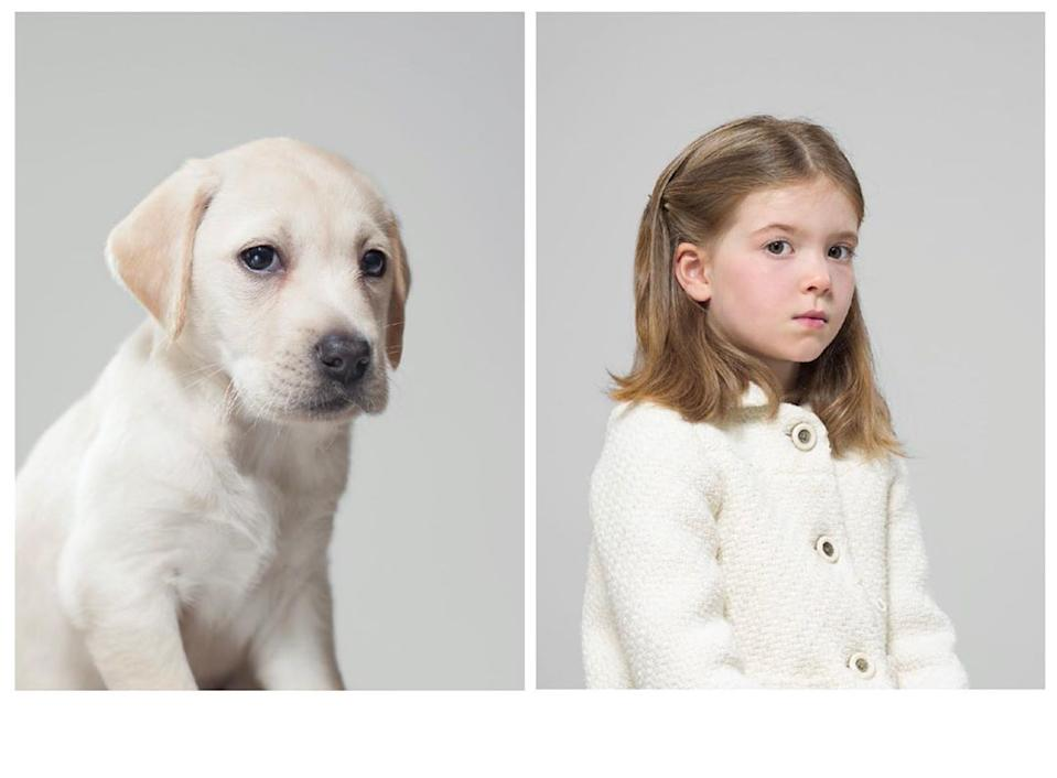 One of Gethings' previous works matched a dog with a child. (Photo courtesy of @gezgethings/Instagram)