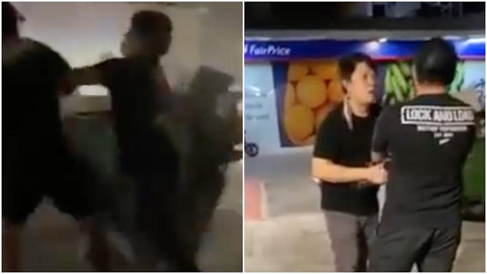 A screengrab of a video of the incident. (PHOTO: YouTube/Singapore News)