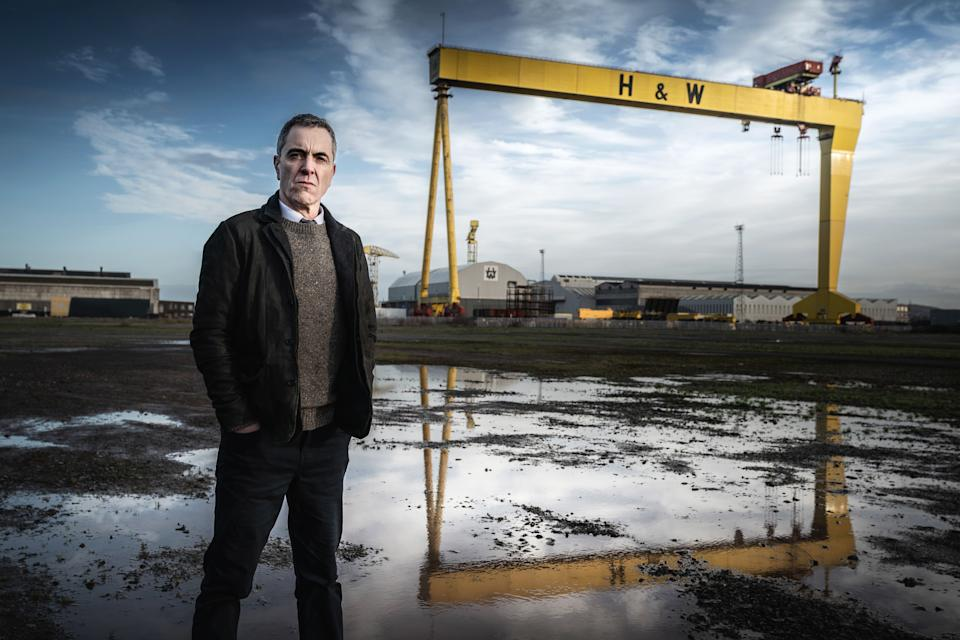James Nesbitt starred in drama Bloodlands for the BBC, which was filmed in Belfast (BBC/PA)
