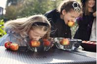 """<p>No party, no problem. All of the classic Halloween party games can be just as fun with only your family, like bobbing for apples—using all the ones you picked up from the orchard! </p><p><a class=""""link rapid-noclick-resp"""" href=""""https://www.amazon.com/halloween-games/s?k=halloween+games&tag=syn-yahoo-20&ascsubtag=%5Bartid%7C1782.g.34114713%5Bsrc%7Cyahoo-us"""" rel=""""nofollow noopener"""" target=""""_blank"""" data-ylk=""""slk:SHOP HALLOWEEN GAMES"""">SHOP HALLOWEEN GAMES</a></p>"""