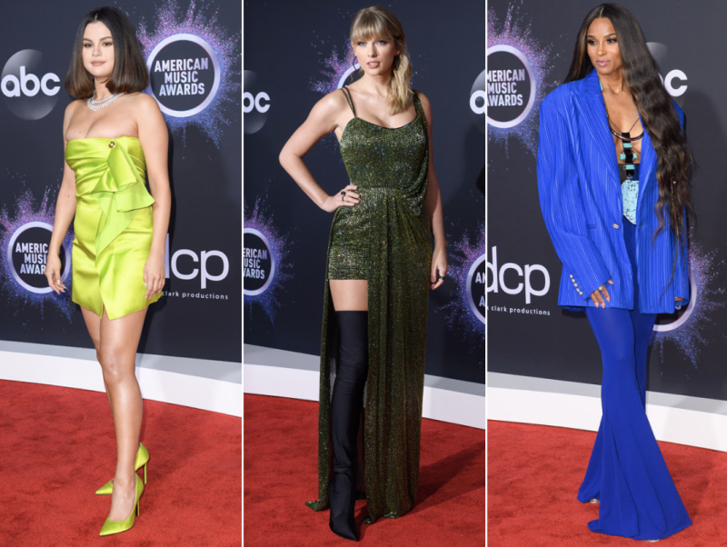 Selena Gomez, Taylor Swift and Ciara arrive at the 2019 American Music Awards in Los Angeles. (Photo: ABC/Image Group LA)