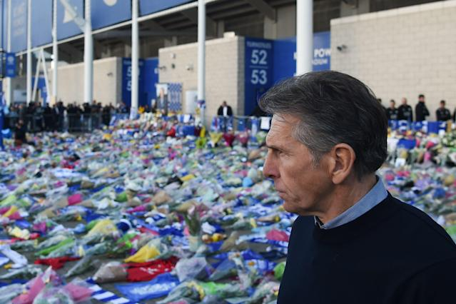 Leicester manager Claude Puel (Photo by Mike Egerton/PA Images via Getty Images)
