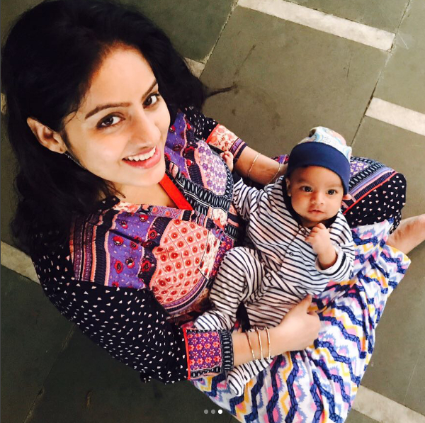 <p>The newest baby in Telly town is Deepika Singh's son. Very possessive of both the men in her life, it took the sanskari 'Sandhya Bindni' a minute to post her son's pic online. Isn't he cute as a button? Do upload more pics, Deepika. </p>