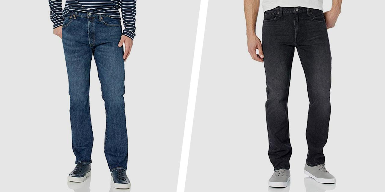 """<p>If we had to choose one item of clothing to wear everyday for the rest of our lives, you'd better believe we're opting for some Levi's jeans. </p><p>Trends come and go, but certain classic wardrobe items have earned their keep as we wear them year after year. Levi's jeans are at the top of that list of tried-and-true basics. What other piece of clothing takes you from winter to summer and office to happy hour? We'll wait. </p><p>Levi's has been (literally) covering our asses for more than 150 years, perfecting the art of denim and becoming an American cultural icon in the process. Cult favorite styles like the 501 are as popular now as when they were created, but Levi's also changes with the times, incorporating slim fits and jeans with stretch into their arsenal that we can't get enough of. They even occasionally jump on the hype bandwagon, making collectors' items like their recent <a href=""""https://www.menshealth.com/style/a29670790/star-wars-levis-collection/"""" target=""""_blank"""">Star Wars collection</a><strong>.  </strong></p><p>But it's their classic jean styles that make up the bulk of our wardrobe. <a href=""""https://www.amazon.com/s?k=jean+levi%27s+men&ref=nb_sb_noss"""" target=""""_blank"""">Amazon stocks a ton of them</a>, and we've selected some of our favorites to spruce up your fall wardrobe. All are best-sellers or have been selected as """"Amazon's Choice"""" and will definitely become your next go-to pair.<br> <br>The best part? <strong>All of these jeans are under $50 right now</strong>. Sale prices vary, depending on size for each fit and wash, so start with our recommendations and then do a little digging around on your own for the best deal. Happy hunting.<br></p>"""