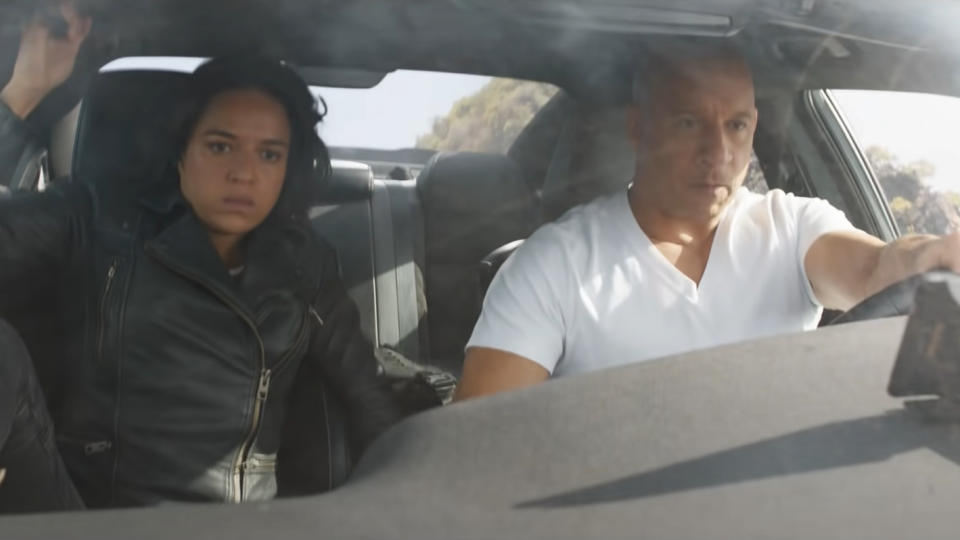 """Cinema's most dysfunctional """"family"""" is back with another blockbuster spectacle of cars smashing into various structures. John Cena is new to the cast as the secret assassin brother of Vin Diesel's vehicular vigilante Dom Toretto. There's also the enigma of Sung Kang's return as beloved character Han, who was killed in 2006 movie <em>The Fast and the Furious: Tokyo Drift</em>. How is he back and how will this affect the fact that his killer, Jason Statham, is now a member of the crew — albeit one who will not be appearing in this movie? (Credit: Universal)"""