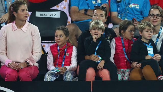 Mirka and the kids. Image: Getty
