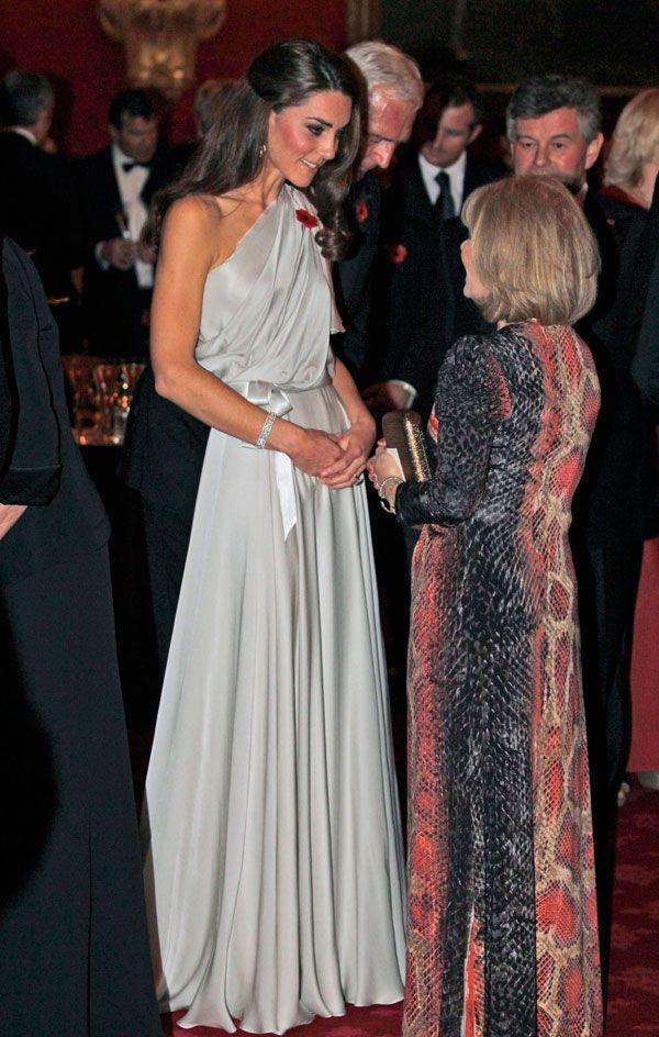 <p>Lovely in a one-shouldered Jenny Packham dress at a charity gala at the St. James Palace in London.</p>
