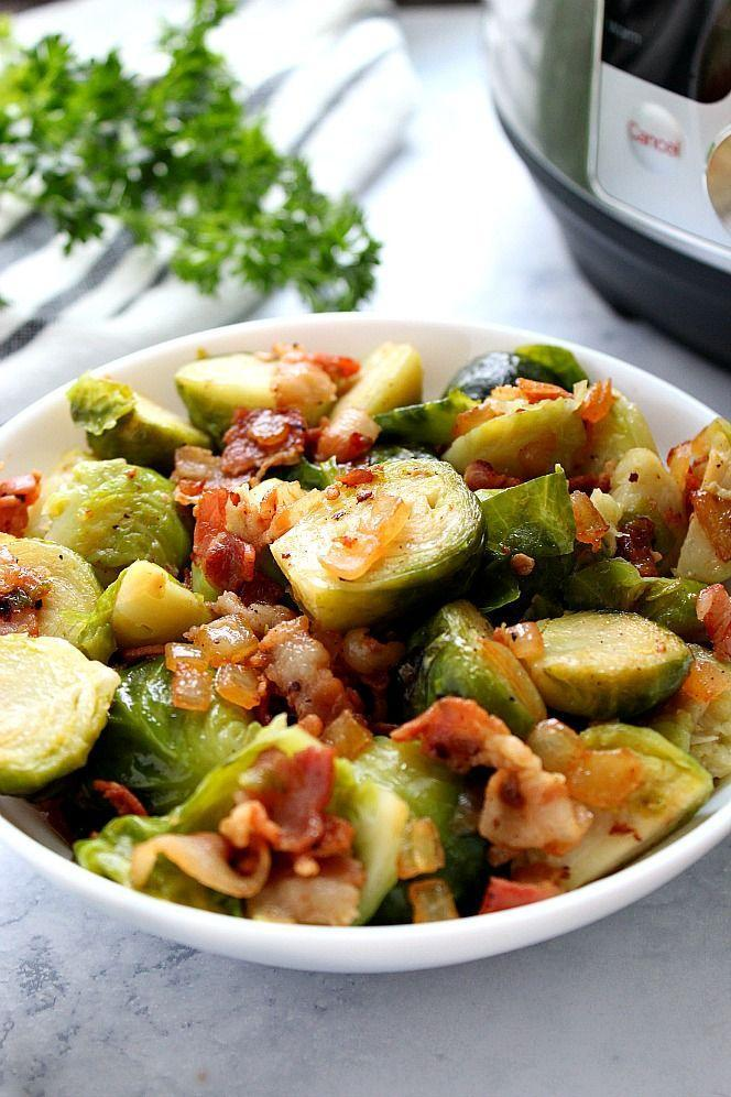 """<p>Bring on the bacon...and Brussels.</p><p>Get the recipe from <a href=""""https://www.crunchycreamysweet.com/2018/11/10/instant-pot-bacon-brussels-sprouts/"""" rel=""""nofollow noopener"""" target=""""_blank"""" data-ylk=""""slk:Crunchy Creamy Sweet"""" class=""""link rapid-noclick-resp"""">Crunchy Creamy Sweet</a>.</p>"""