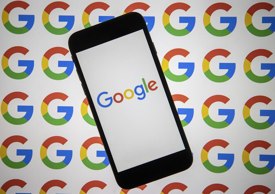 ANKARA, TURKEY - AUGUST 5: In this photo illustration Google logo is seen both on a smart phone and a pc screen in Ankara, Turkey on August 5, 2021. (Photo by Ali Balikci/Anadolu Agency via Getty Images)