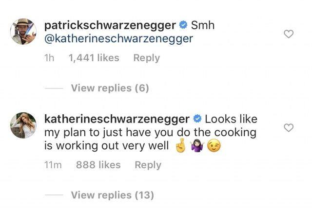 Schwarzenegger also joked that it's all part of her 'plan' to make Pratt do all the cooking.